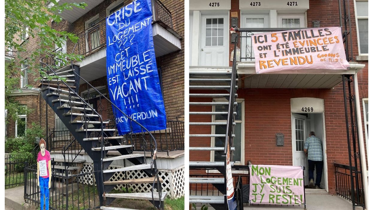 5 Montreal Apartments Had Banners To Call Out Renovictions