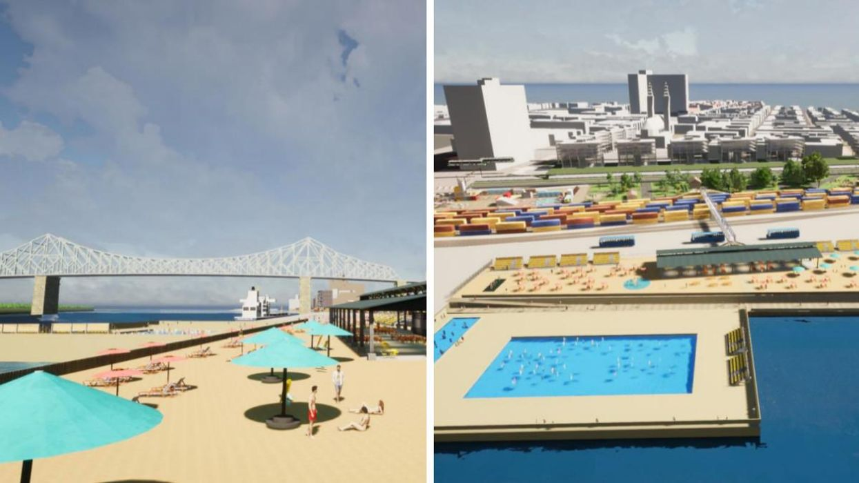 A Massive New Beach Near Downtown Montreal Is Part Of A New Proposal (VIDEO)