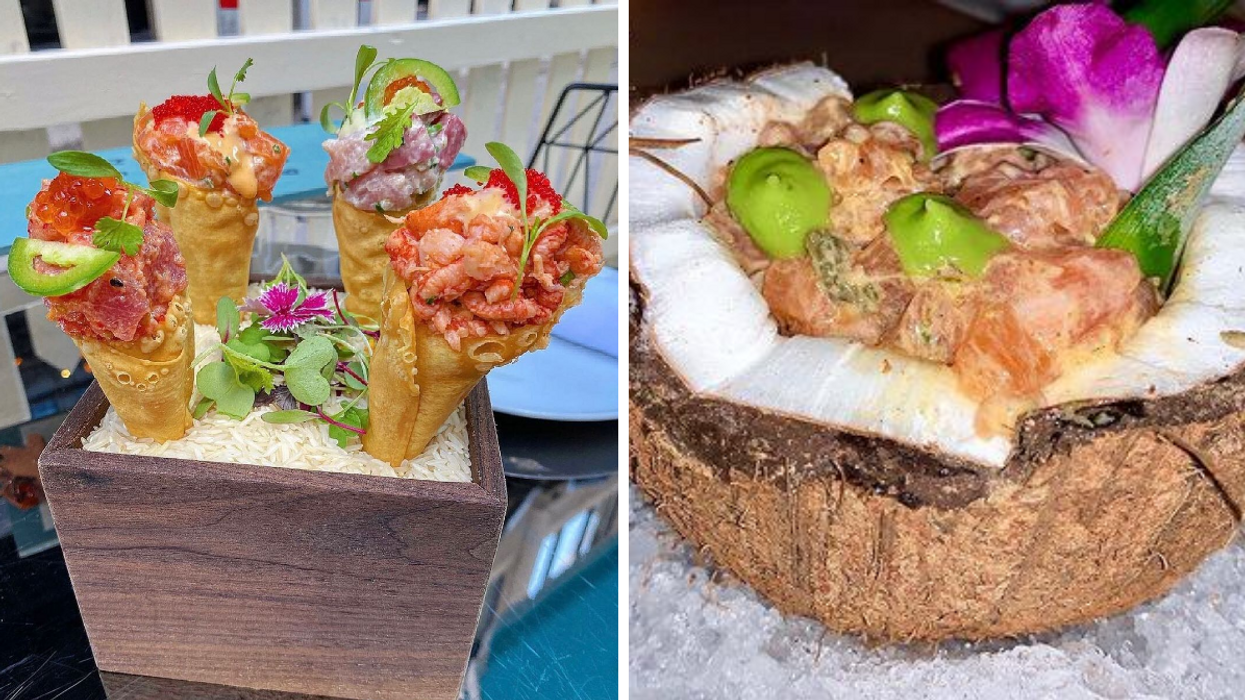 A Montreal Restaurant Serves Tartare In Cones Like Ice-Cream & It's Total Seafood Porn