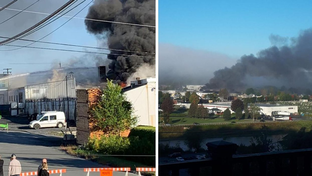 A Quebec Factory Fire Injured 8 People & Sent A Huge Cloud Of Black Smoke Into The Sky