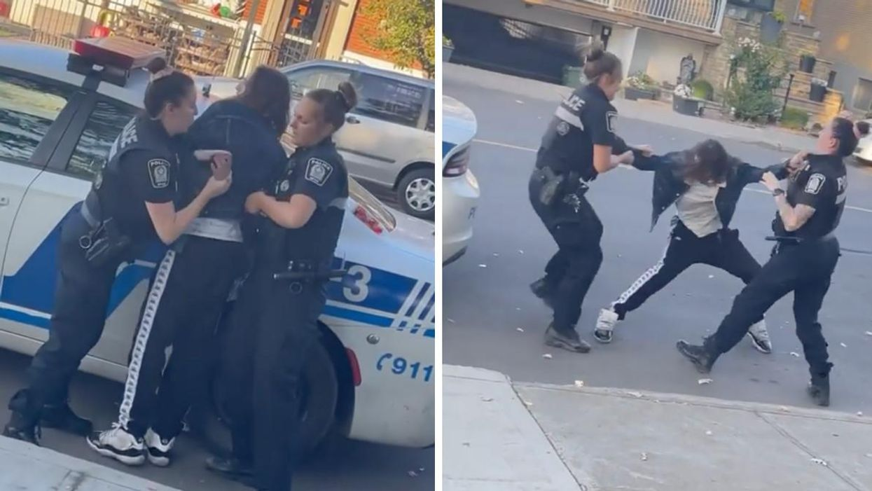 A Viral Video Shows 2 SPVM Officers Failing To Handcuff A Suspect Who Ends Up Running Away