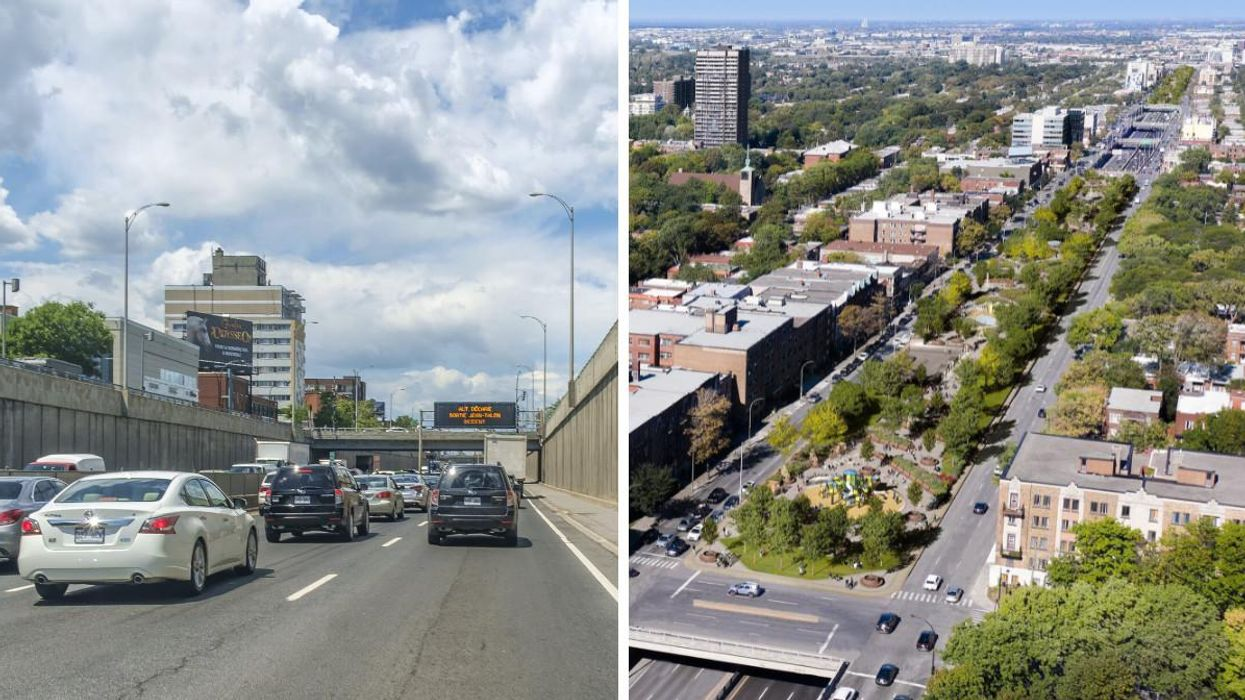 Coderre Wants To Cover Montreal's Décarie Expressway With A New Park