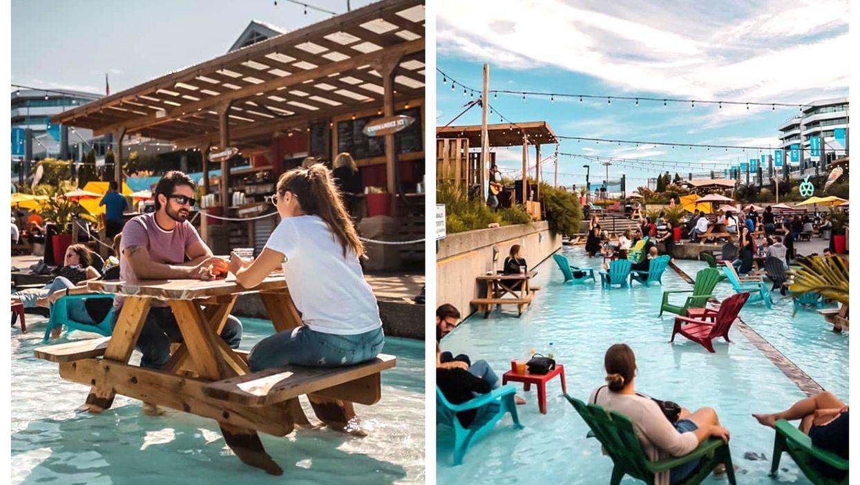 La Cour arrière du Festibière Is A Pool Terrasse In Quebec City