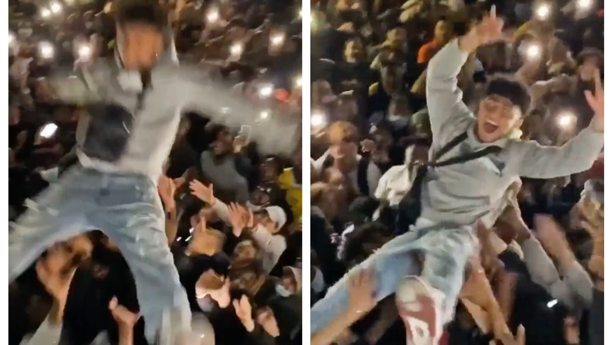 Viral Video Shows A Montrealer Crowd Surfing Over A Huge Gathering In The Old Port (VIDEO)