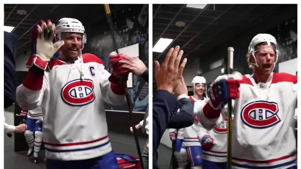 Habs Players Celebrated Their 'F**king' Victory & Let Loose In A Post-Game Video