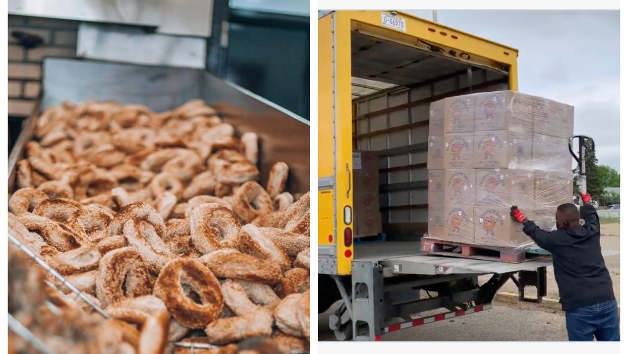 St-Viateur Sent An Order Of 17,280 Bagels On A Plane To Edmonton & It's A New Record
