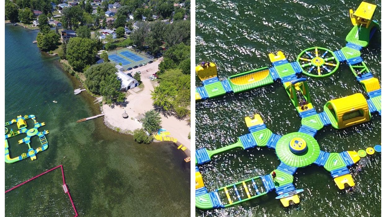 This Inflatable Obstacle Course Near Montreal Is Ideal If You Hate Sunbathing On The Beach
