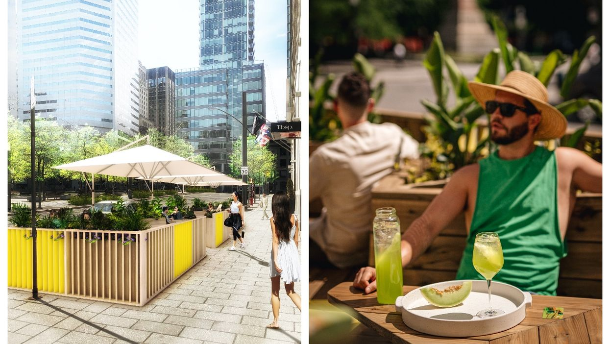 A Plant-Filled Yellow Terrasse Just Opened In MTL & It's Ideal For Cocktail Dates (PHOTOS)
