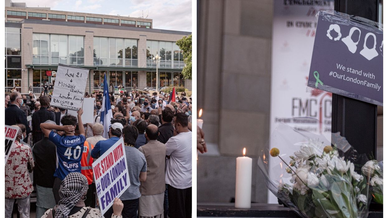 Moving Photos Show A Vigil Taking Place In Montreal To Honour The Family Killed In London