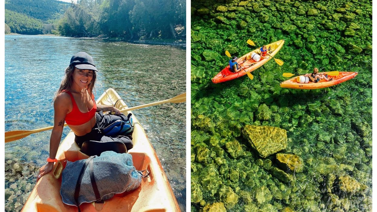 You Can Cross 20 km Of Sparkling Turquoise Water On A Kayak In Quebec & It's Pure Magic