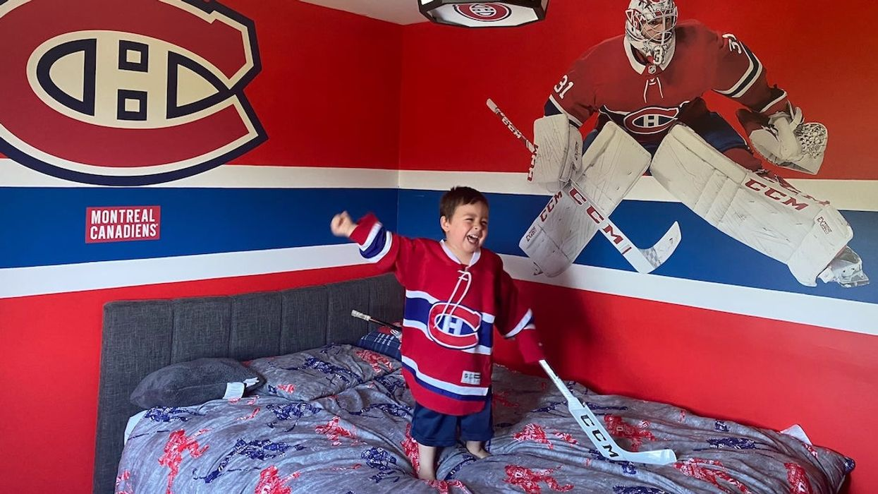 A Montreal Canadiens Megafan Toddler Is Going To A Game (PHOTO)