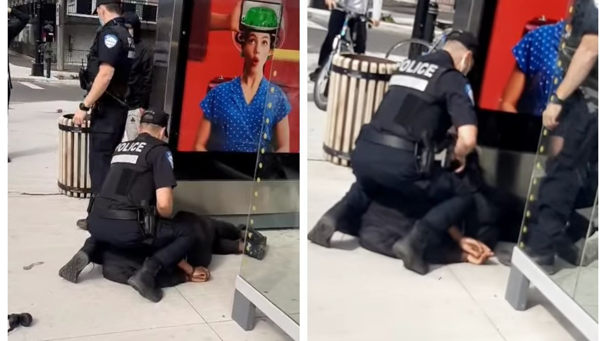 A Video Shows Montreal Police Kneeling On A Black Teenager