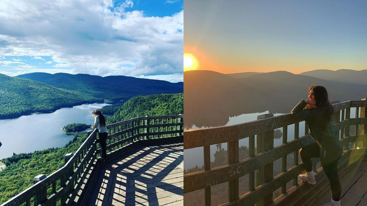 This Quebec Hike Takes You To A Lookout That Feels Like It's Floating Above The Mountains