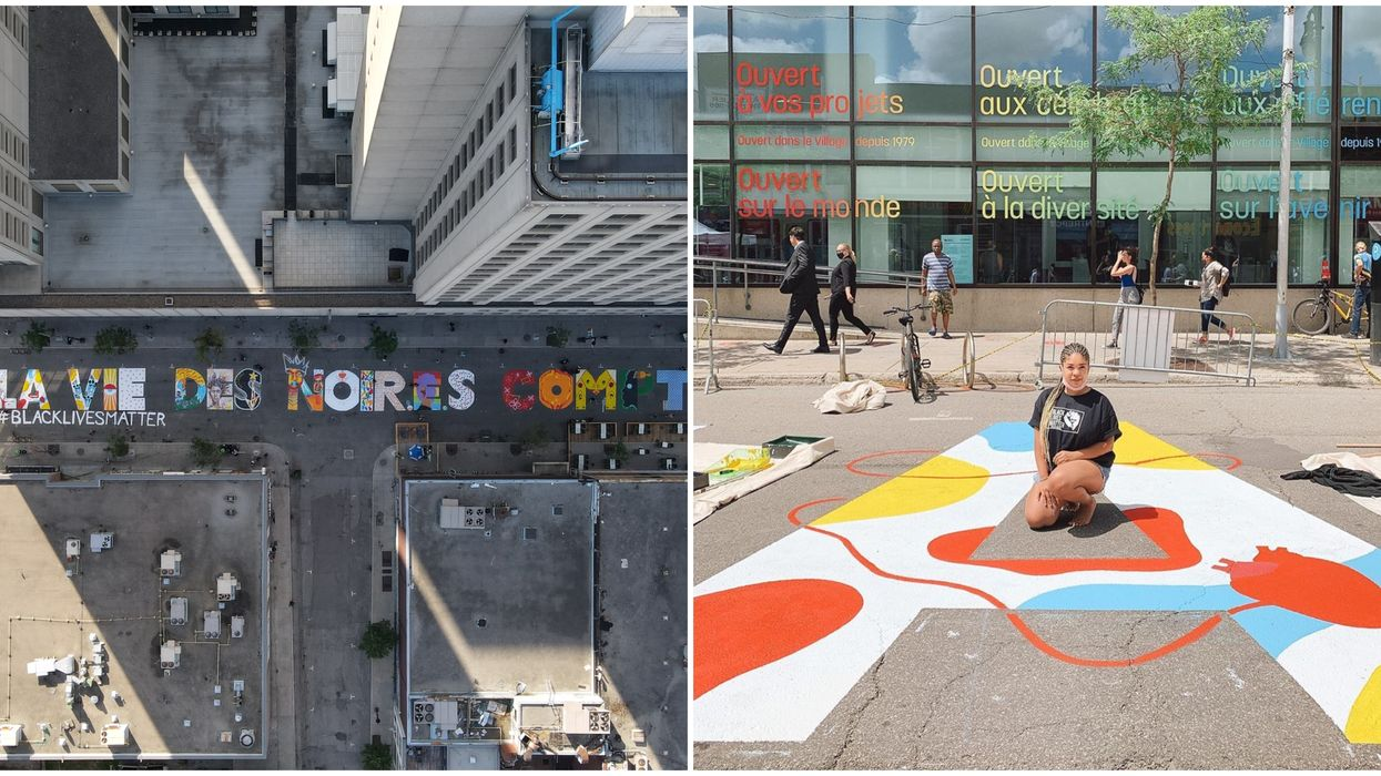 Montreal's Colourful Black Lives Matter Mural Was Officially Removed