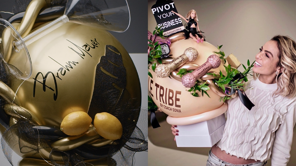 A Montreal Company Wraps Gifts Inside Extravagant Balloons & You Have To Pop To Open