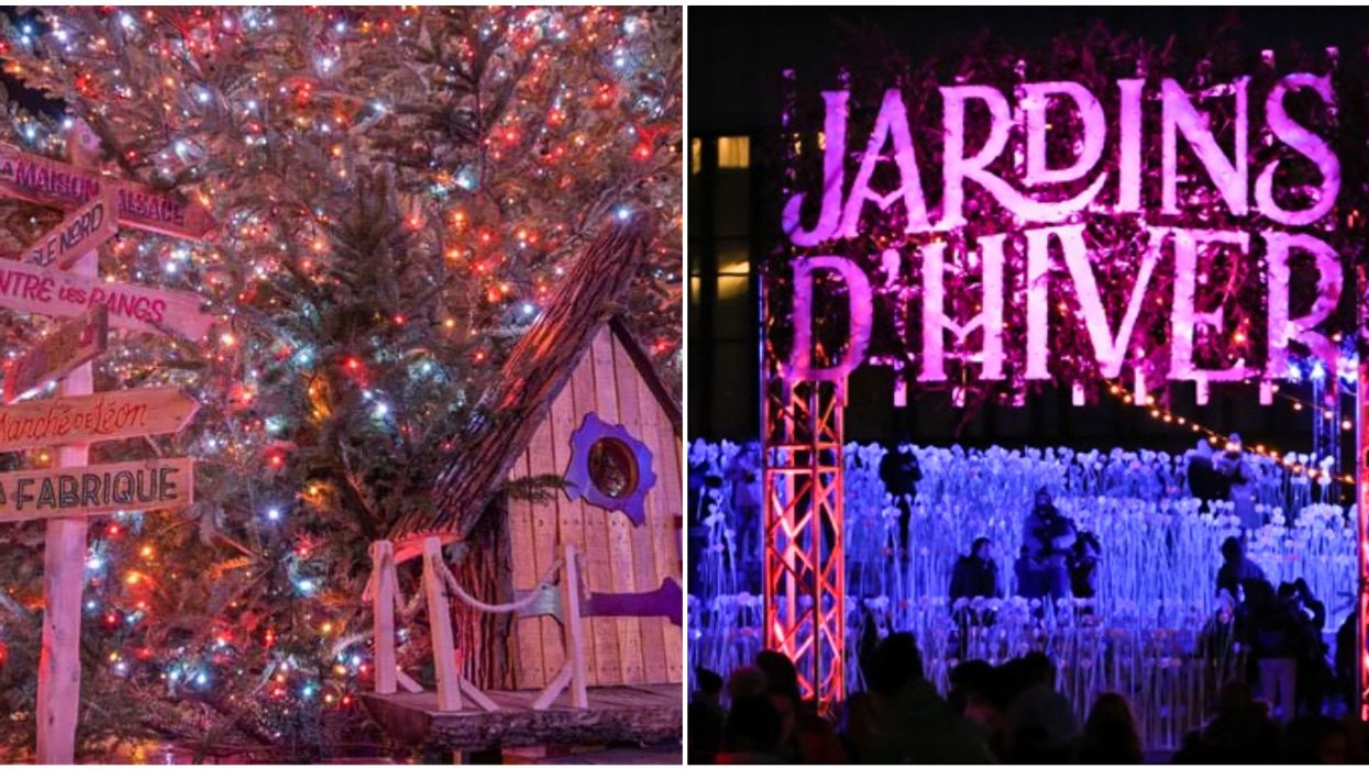A Magical Winter Garden Just Opened In MTL & It's The Most Festive Spot In Town (PHOTOS)
