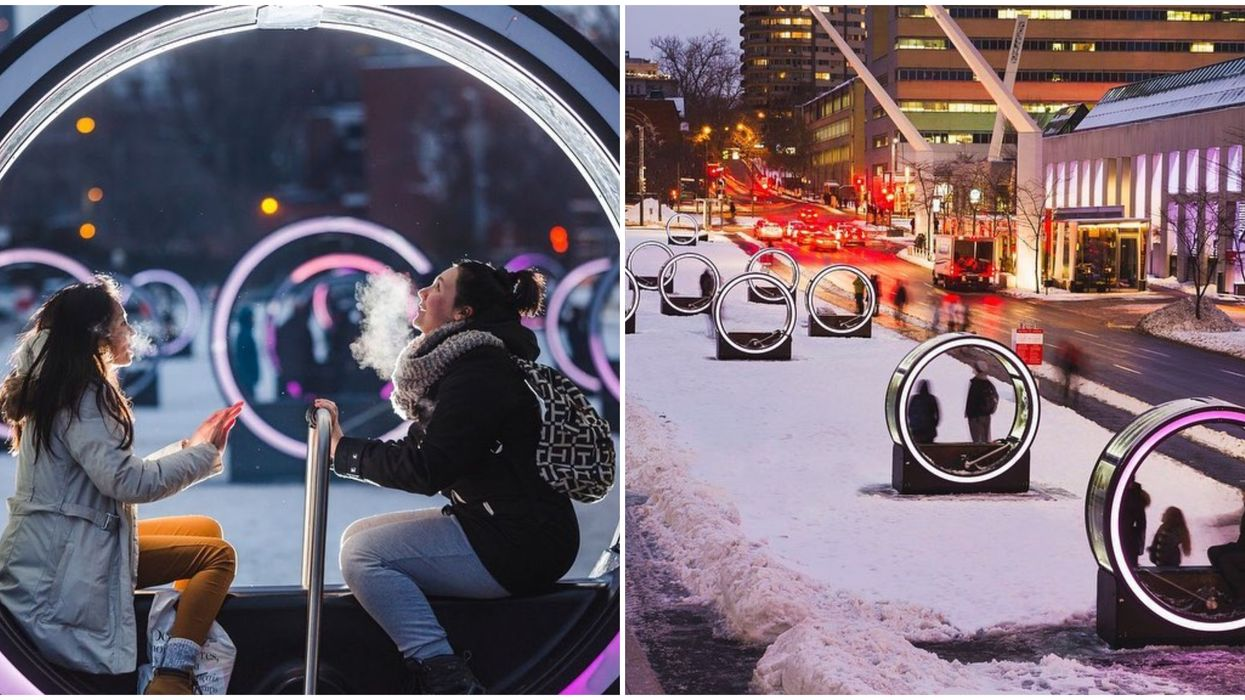 Place Des Festivals Will Be Filled With Giant Human-Powered Music Boxes Shaped Like Loops