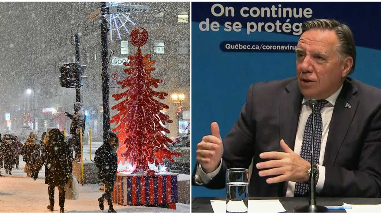 François Legault Just Told Quebecers To 'Forget About Big Christmas Parties'
