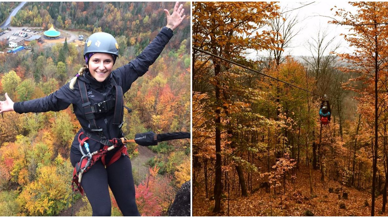 You Can Zipline Through Fall Foliage At This Stunning Park Near Montreal (PHOTOS)