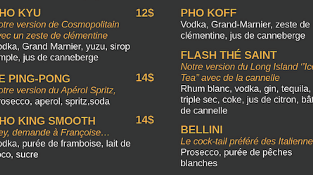 A Montreal-Area Restaurant Had To Change Vulgar Menu Names After Huge Outcry