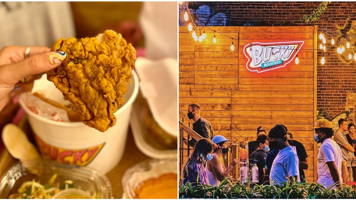 Montreal's All-New Fried Chicken Spot Has A Hidden Terrasse & You Can Order A Whole Bucket