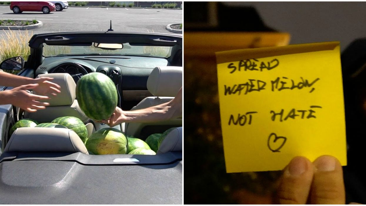 The Pranksters Behind The Random Watermelons On Montrealers' Doorsteps Have Come Forward