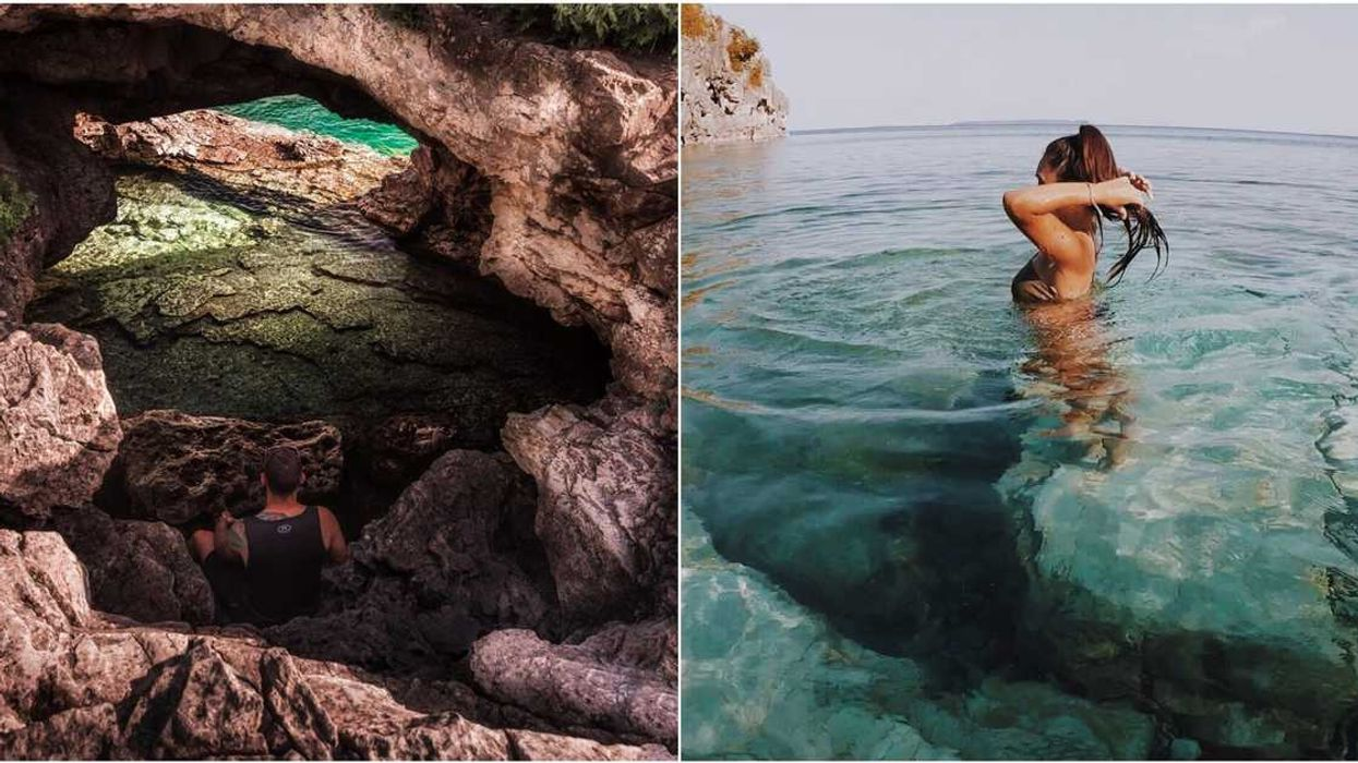 This Cave With Crystal Clear Waters In Ontario Is Totally Worth The Drive From Montreal