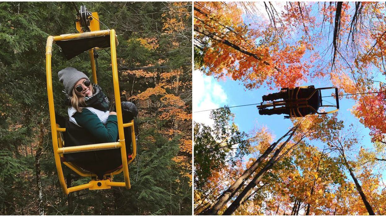 The Flying Bikes At Au Diable Vert Give You An Up-Close View Of Quebec's Fall Foliage