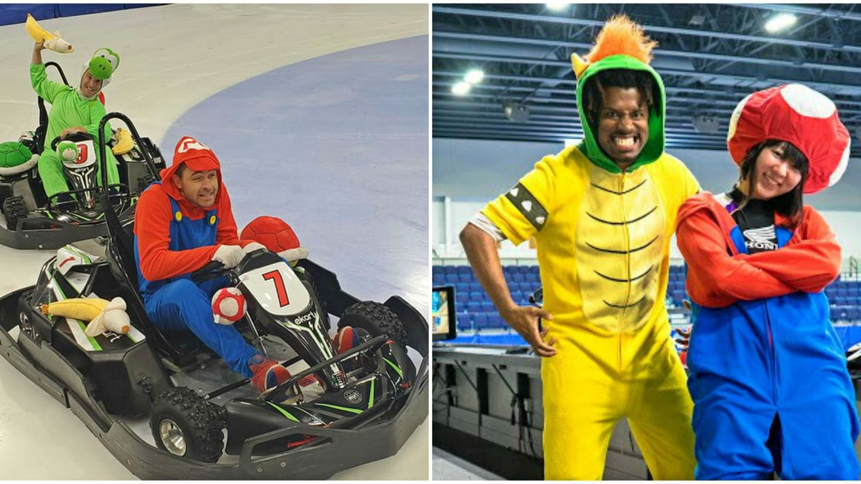 You Can Play Real-Life Mario Kart On Ice In Laval This Month