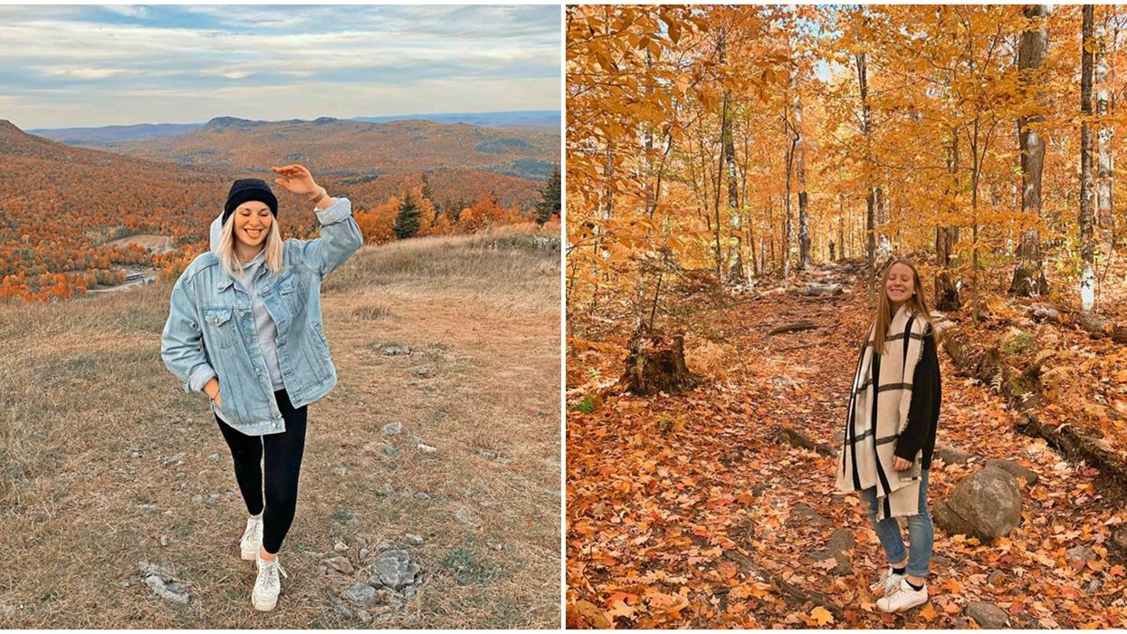 The Fall View From The Top Of This Quebec Mountain Is Like A Sea Of Fire (PHOTOS)