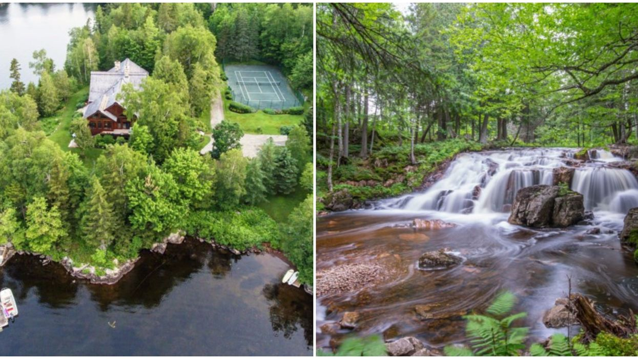This Mega-Mansion In Quebec Comes With Its Own Private Waterfall (PHOTOS)