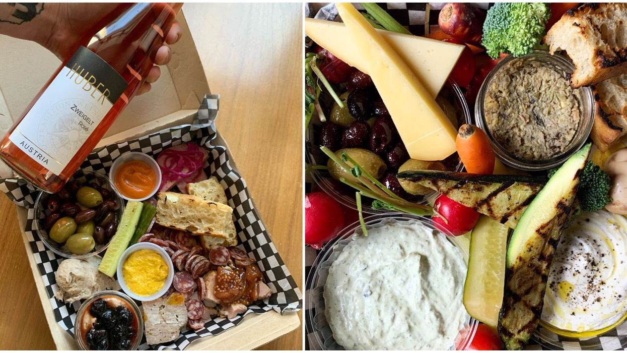 You Can Get A Perfect Montreal Happy Hour Box With Wine & Food Delivered Right To Your Door