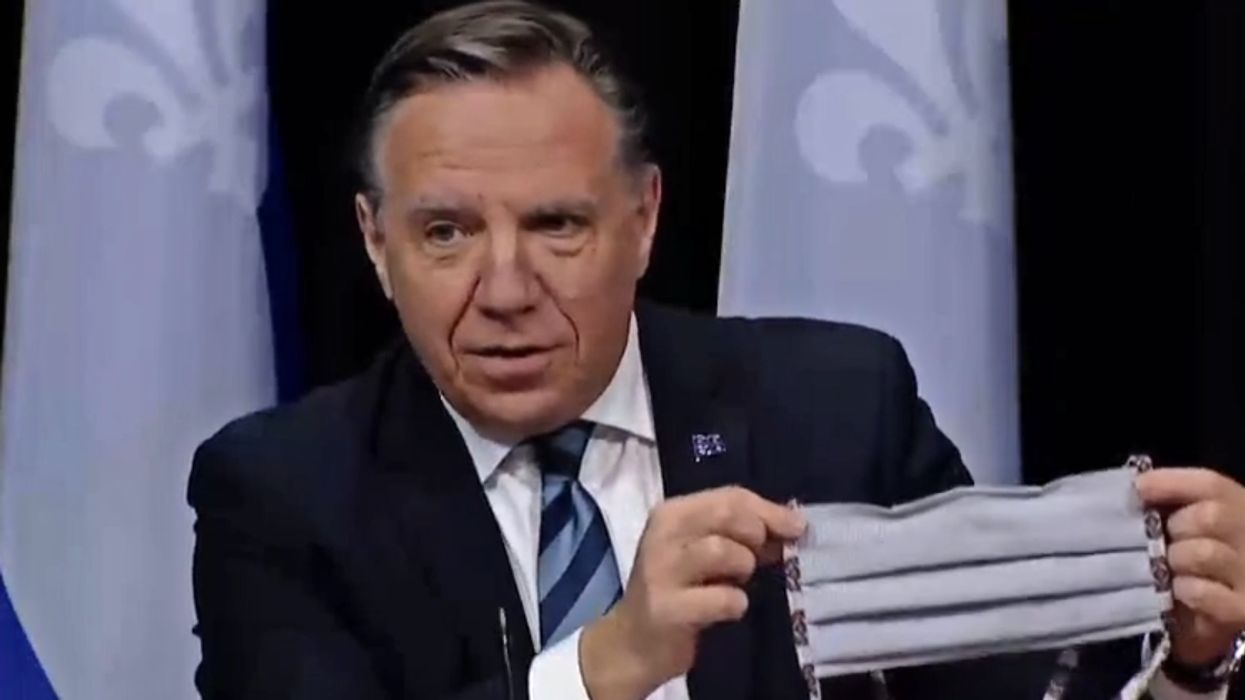 """Masks In Quebec Not Mandatory But """"Strongly Recommended,"""" Says Legault"""