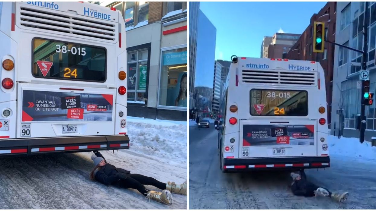Montreal Woman Casually Dragged By STM Bus On Sherbrooke Will Likely Get $1,000+ Fine