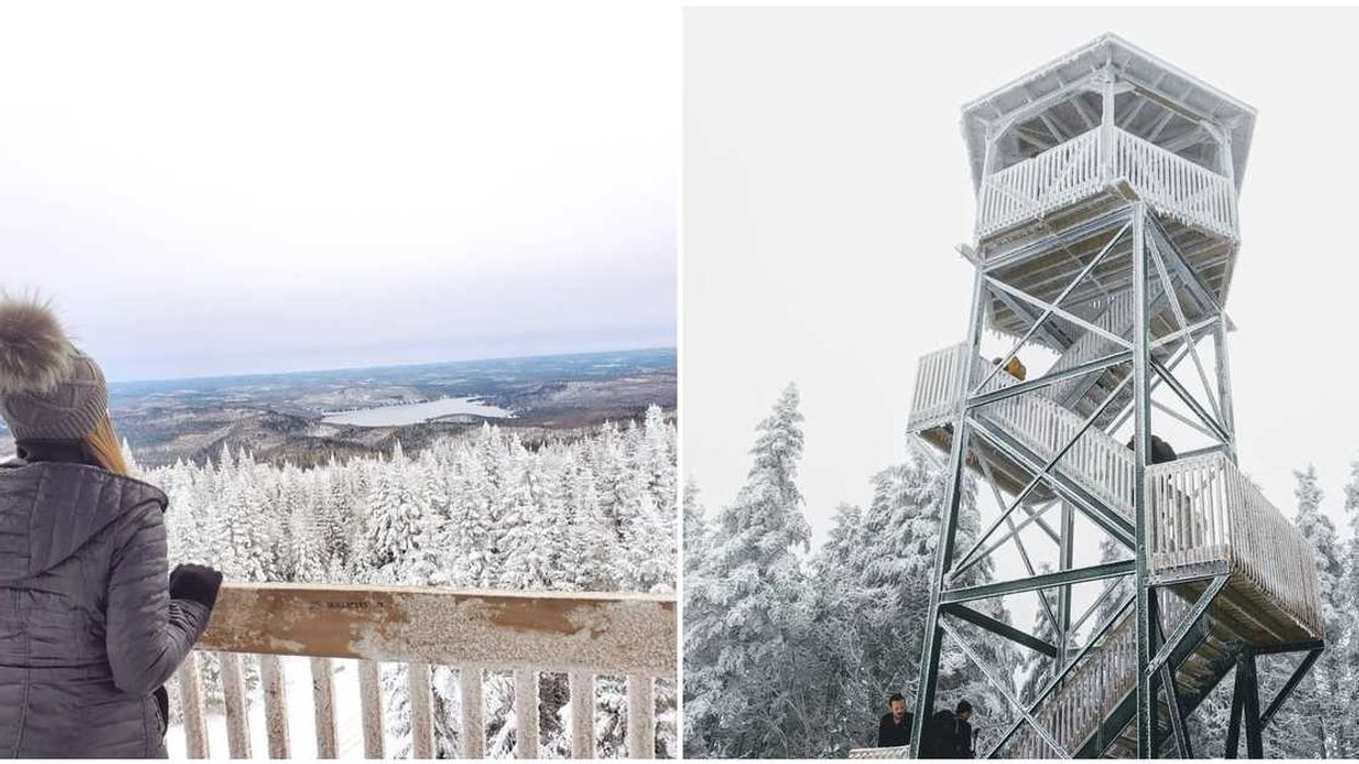 This Fairytale Mountaintop Lookout 1.5 Hours From Montreal Gives The Perfect Winter Views