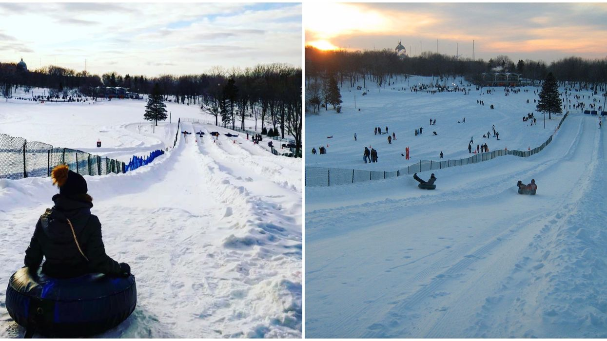 You Can Go Tubing Under The Stars On Mount Royal Starting This Weekend