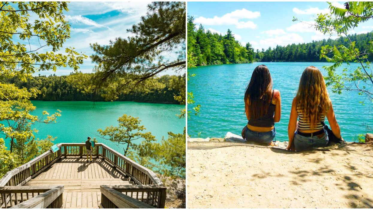 The Turquoise Water In Gatineau Park's Pink Lake Will Give You Dazzling Springtime Views