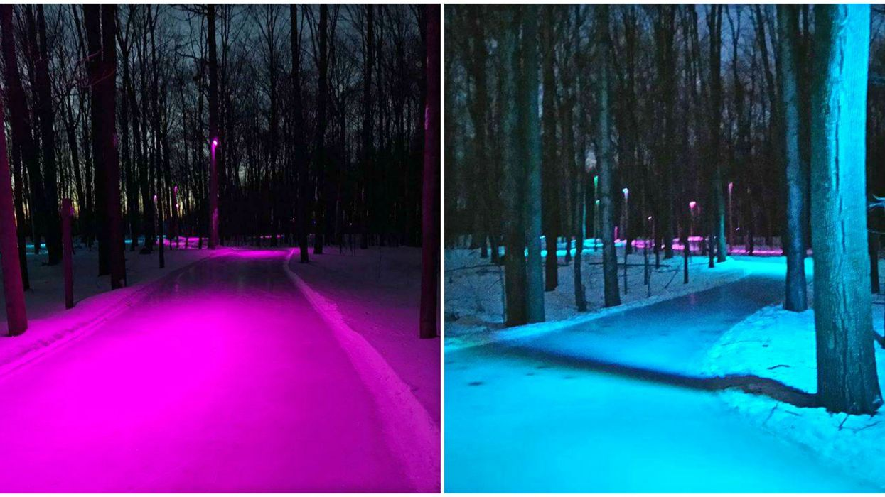 This Spooky Skating Trail Near Montreal Lights Up On Weekend Evenings