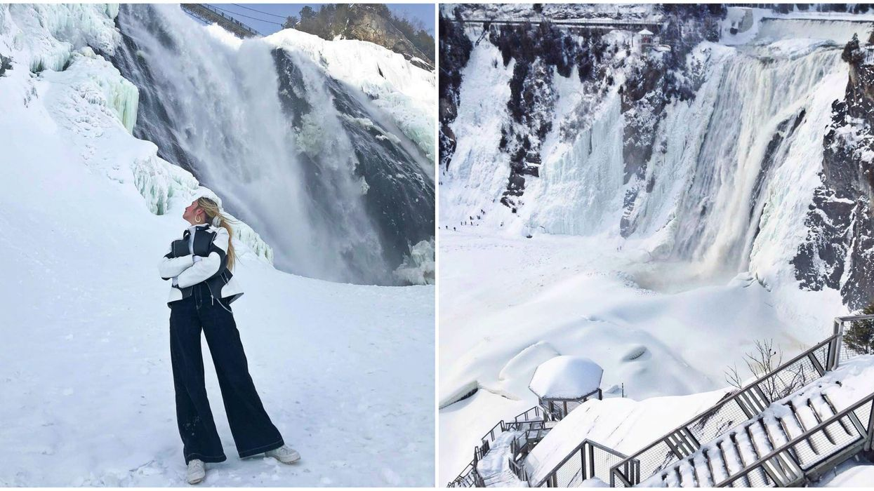 15 Photos That Show How Breathtaking Montmorency Falls Is When It Starts To Freeze