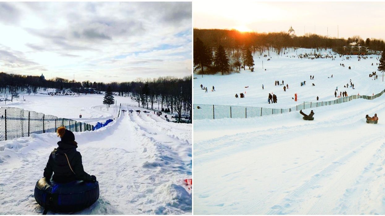 Snow Tubing On Mount Royal Opens Next Week & You Can Tube Under The Stars In 2020