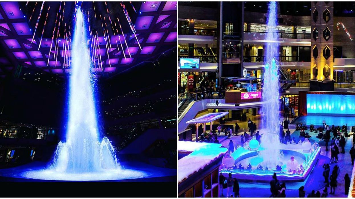 Complexe Desjardins Is Transforming Into A Holiday Kingdom With A Magical Fountain Show
