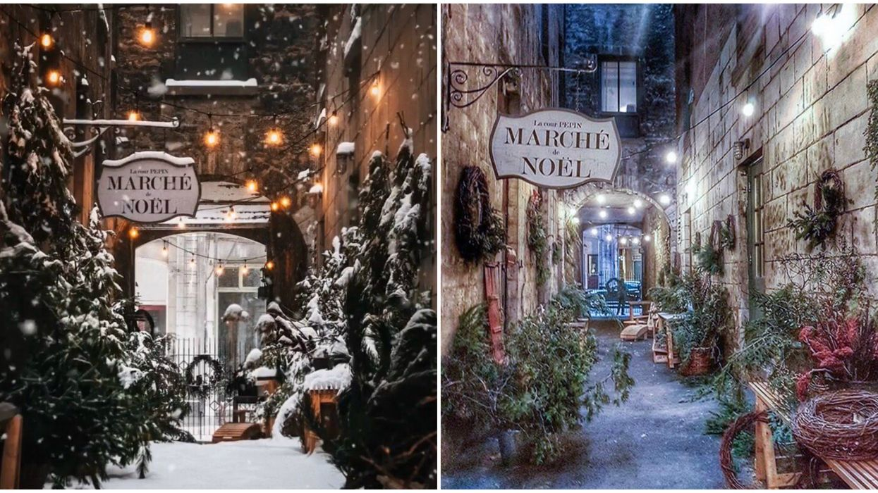 This Christmas Market In An Old Montreal Alley Will Make You Feel Like You're In Europe