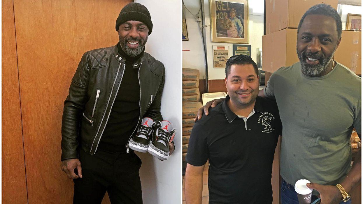 """Sexiest Man Alive"" Idris Elba Spotted At Montreal's St-Viateur Bagel"