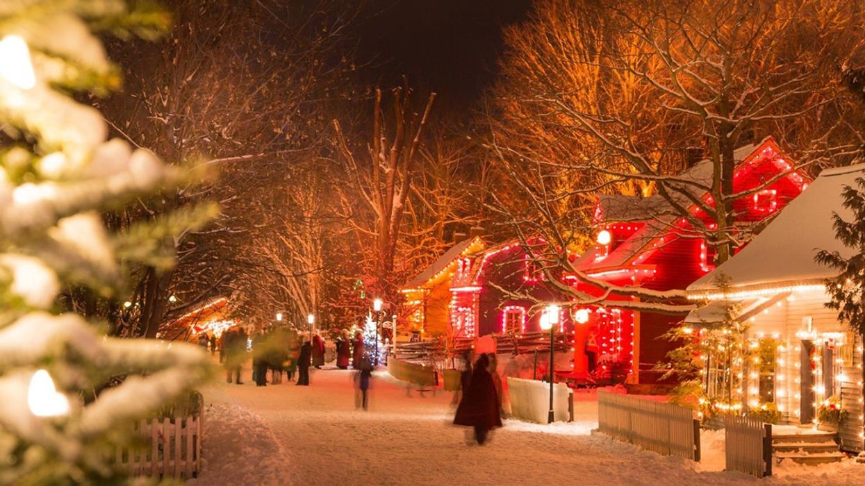 This Storybook Christmas Village Outside Montreal Is Lit Up With 25,000 Lights