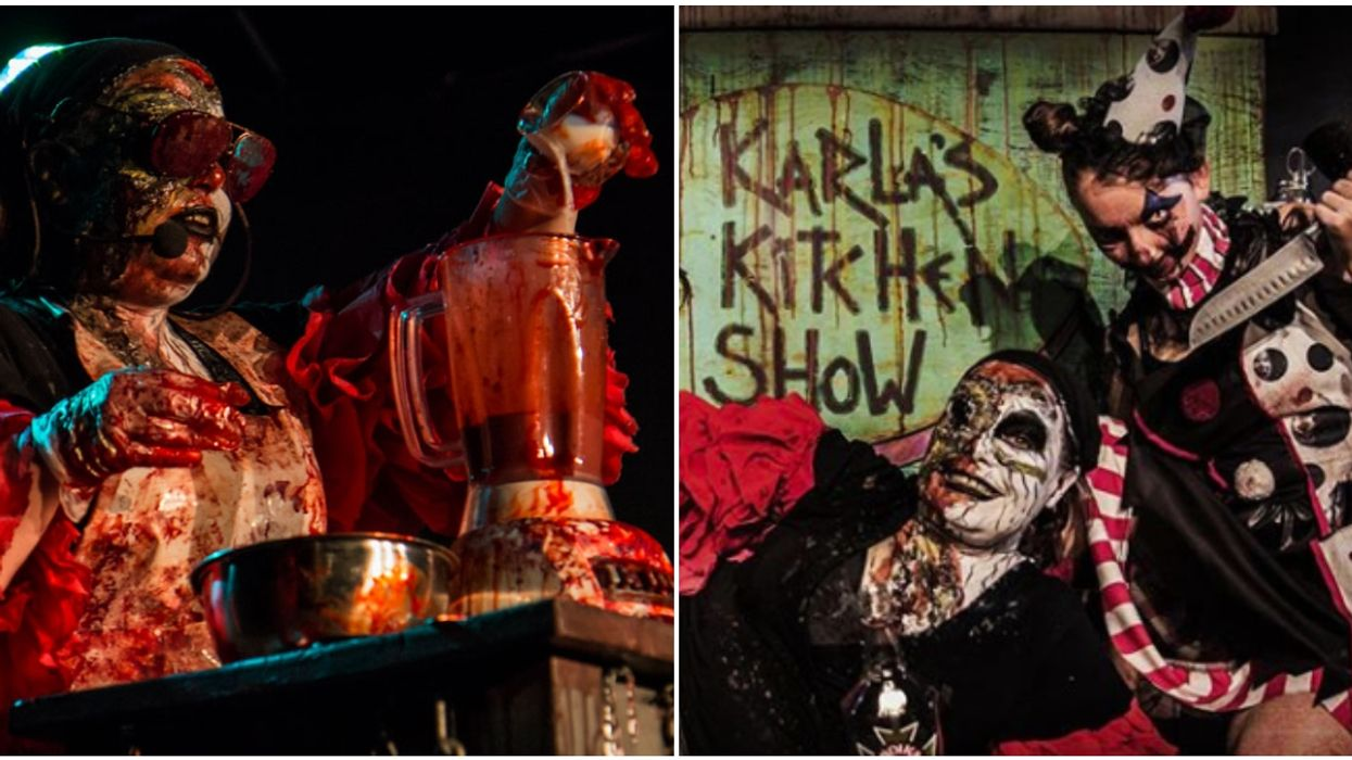 A Haunted House Near Montreal Has A Real, Gory Restaurant For Anyone With A Strong Stomach