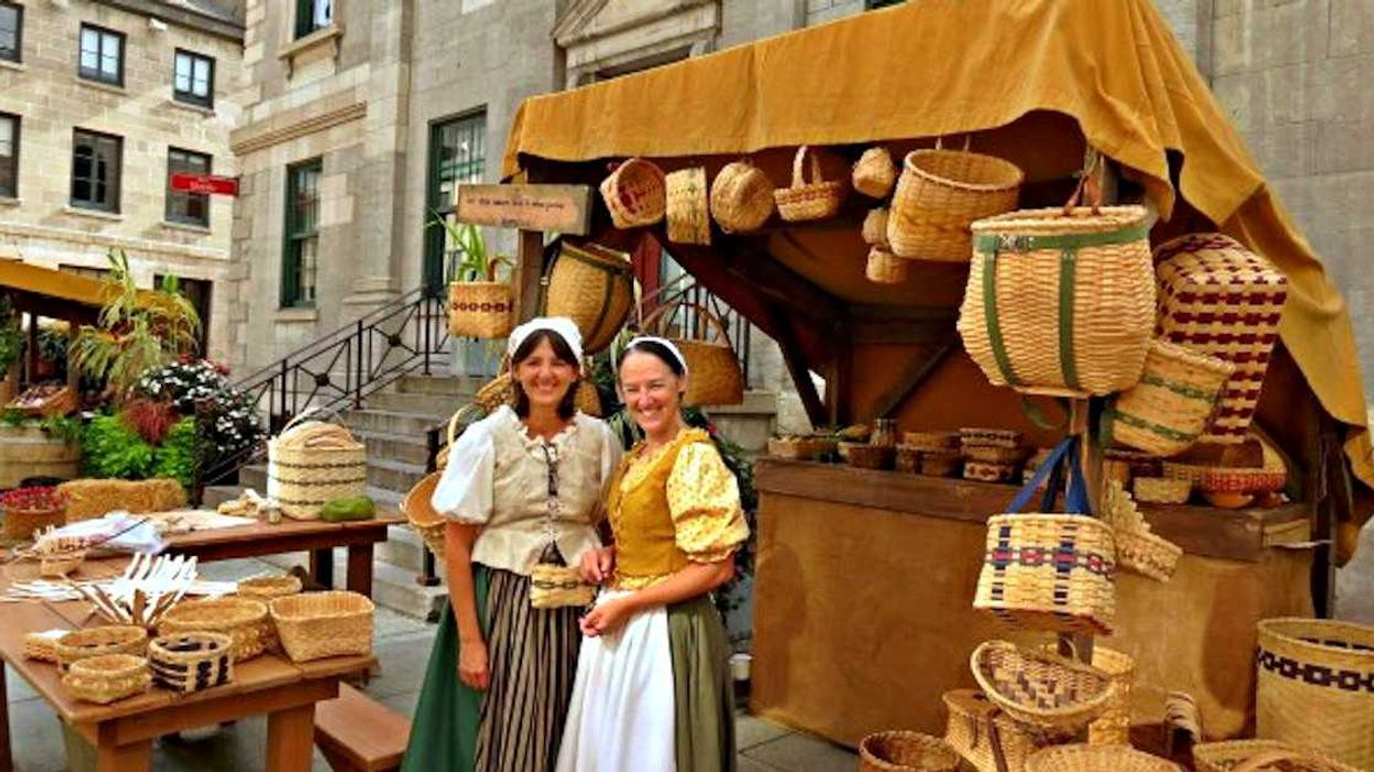 Part Of Montreal's Old Port Is Transforming Into An 18th Century Market This Weekend