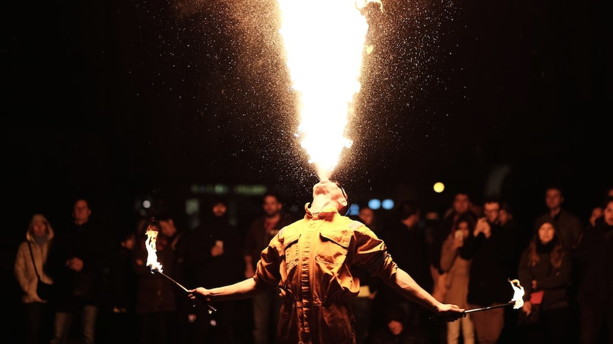 fire-breathing circus