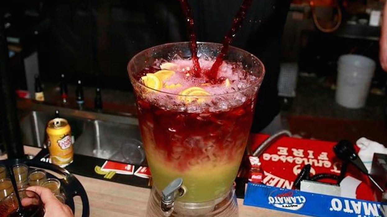 Giant pitcher of sangria