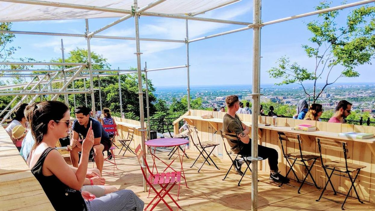 Montreal's Terrasse Café And Bar On Top Of Mont Royal Is Opening This Weekend