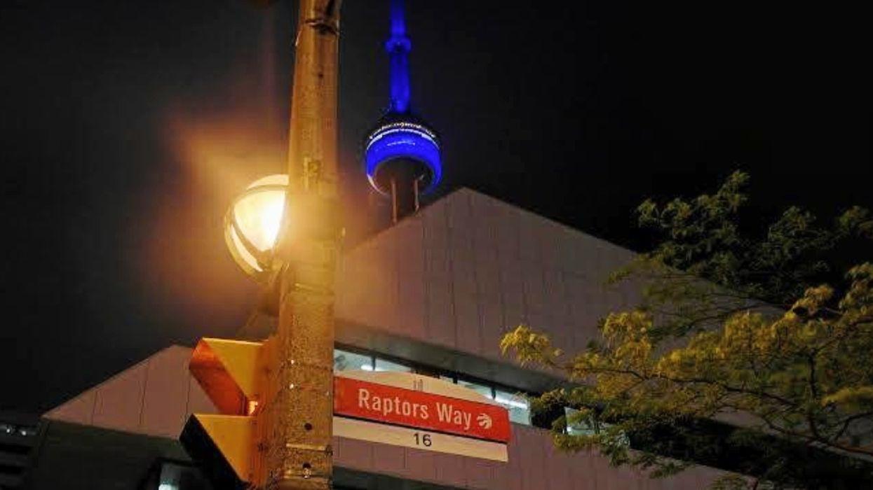 "Raptors Superfans Change Toronto's ""Blue Jays Way"" Street Sign To ""Raptors Way"" For Game 5 Of The NBA Finals"